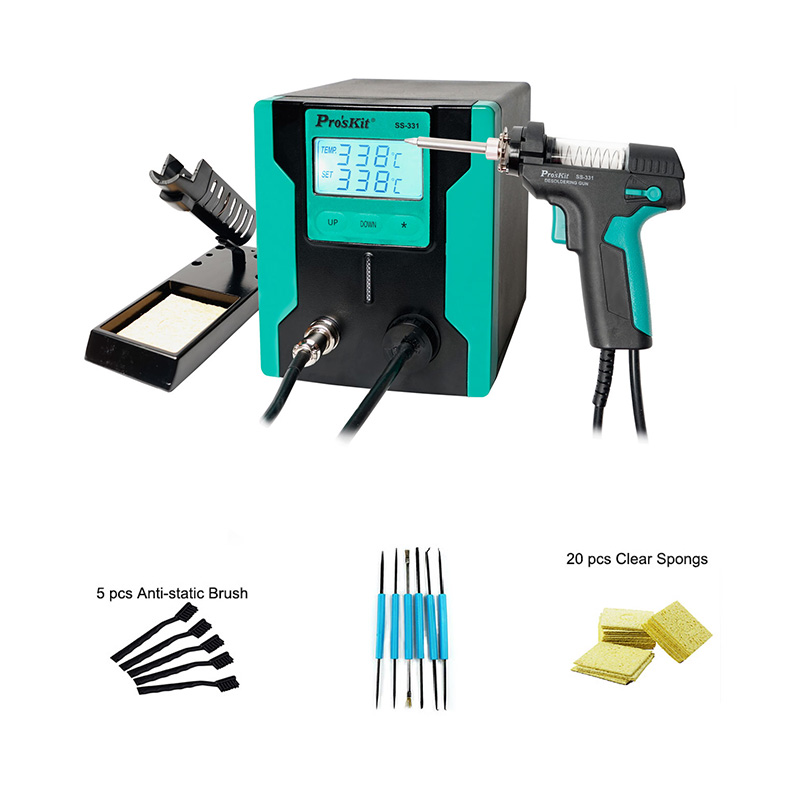 2019 Original New Version Pro'sKit SS-331H  LCD Digital Electric Desoldering Gun For PCB Motherboard Soldering Disassembly