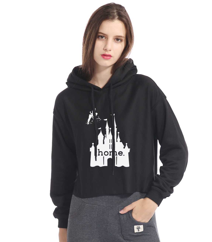 Fashion Brand Clothing 2017 New Hoodies For Women Print Castle Is My Home Streetwear Harajuku Womens Sportswear Hip Hop Hoody