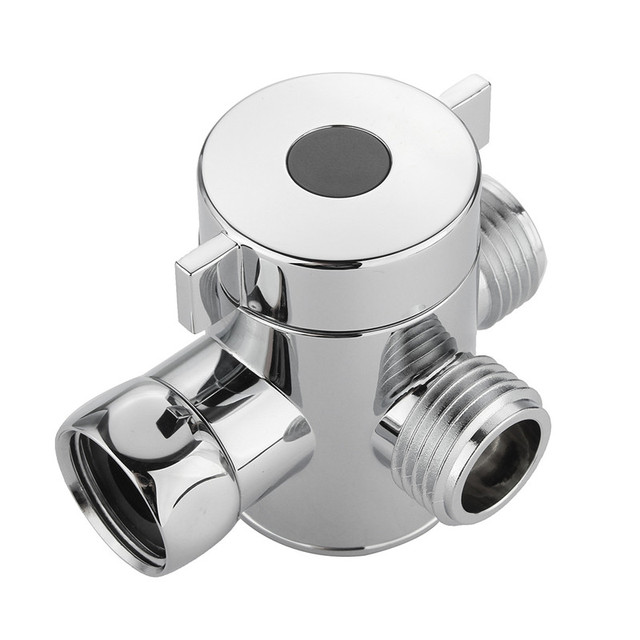 G1/2 Inch Shower Head Shunt Bathroom Three Way T Adapter Tee ...