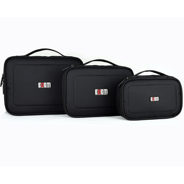 BUBM digital receiving bag  black blue grey  power bank XL  L M S 3 4  pcs a set Portable Travel bag Organizer