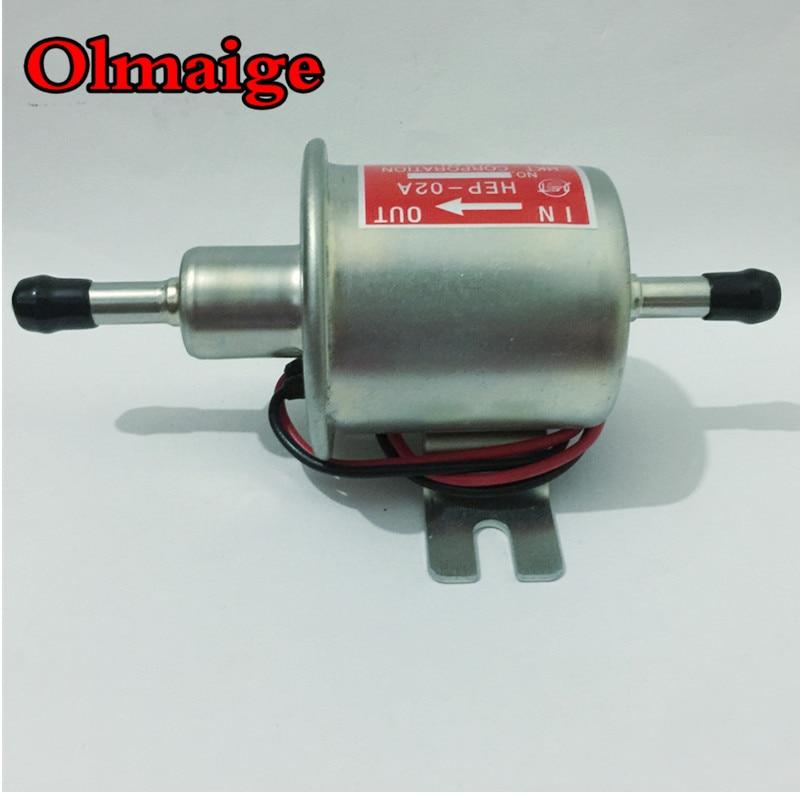 Envío Gratis diesel gasolina 12V bomba de combustible eléctrica HEP-02A bomba de combustible de presión baja para carburador, motocicleta, ATV