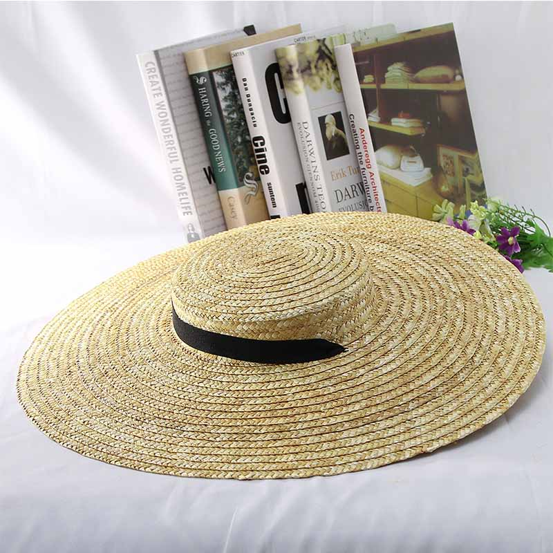 056bbe6ec Cheap Summer Hat for Women Common Bigger wheat Straw Hat Wide Brim Braided Sun  Beach Hat with Wind Lanyard UPF50+ Sun Protection