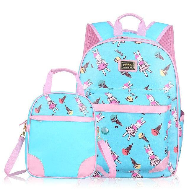 Cartoon Rabbit Children Printing Backpacks School Bags for Boys Girls cute Schoolbag Kids book bag set Mochila Infantis Escolar