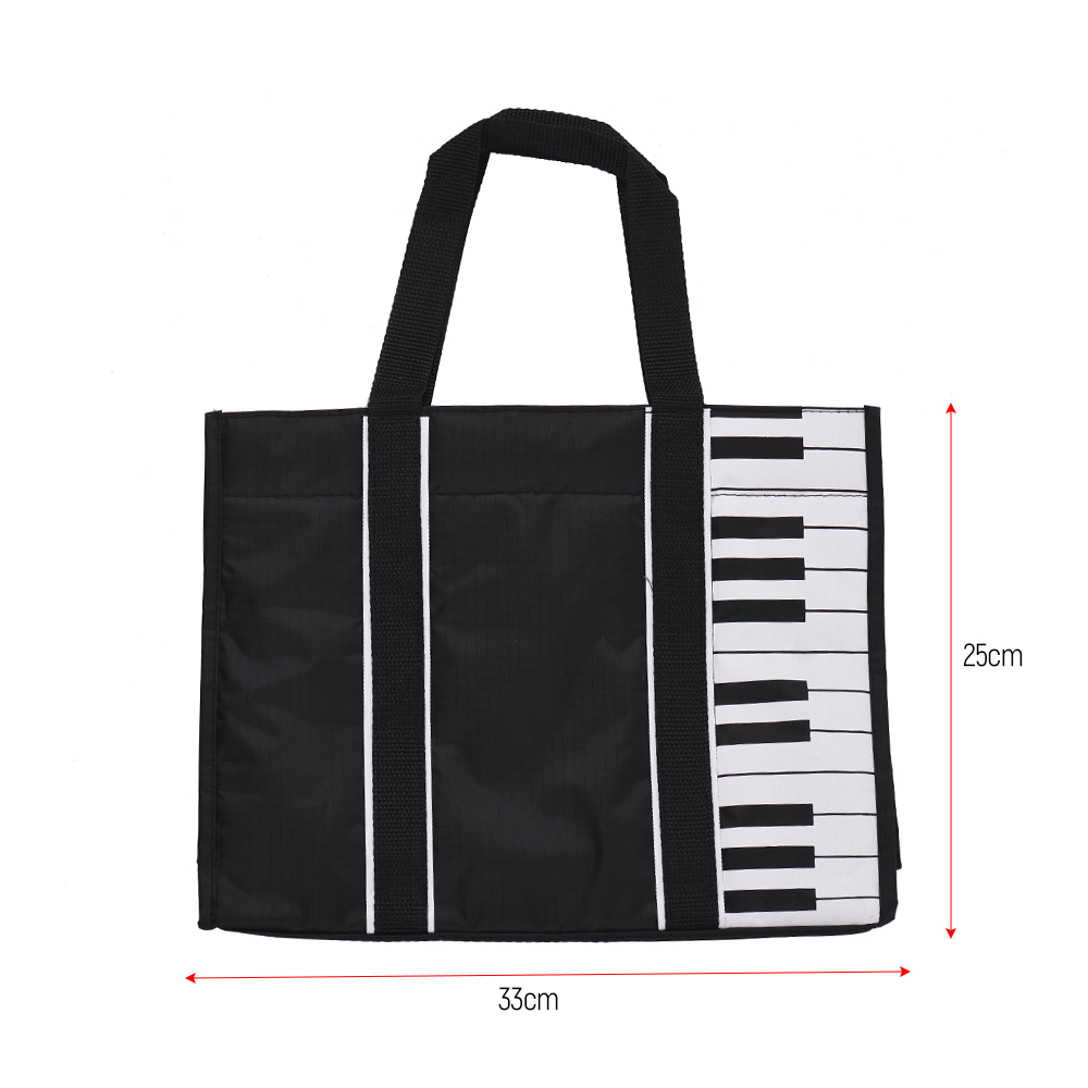 a7b6f9513 Waterproof Handbag Music Tote Shoulder Grocery Shopping Bag 5mm Cotton  Padding with Piano Key Pattern-in Guitar Parts & Accessories from Sports ...