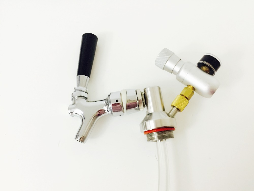 2L mini growler spears Beer Spear With Tap Faucet with CO2 Injector ...