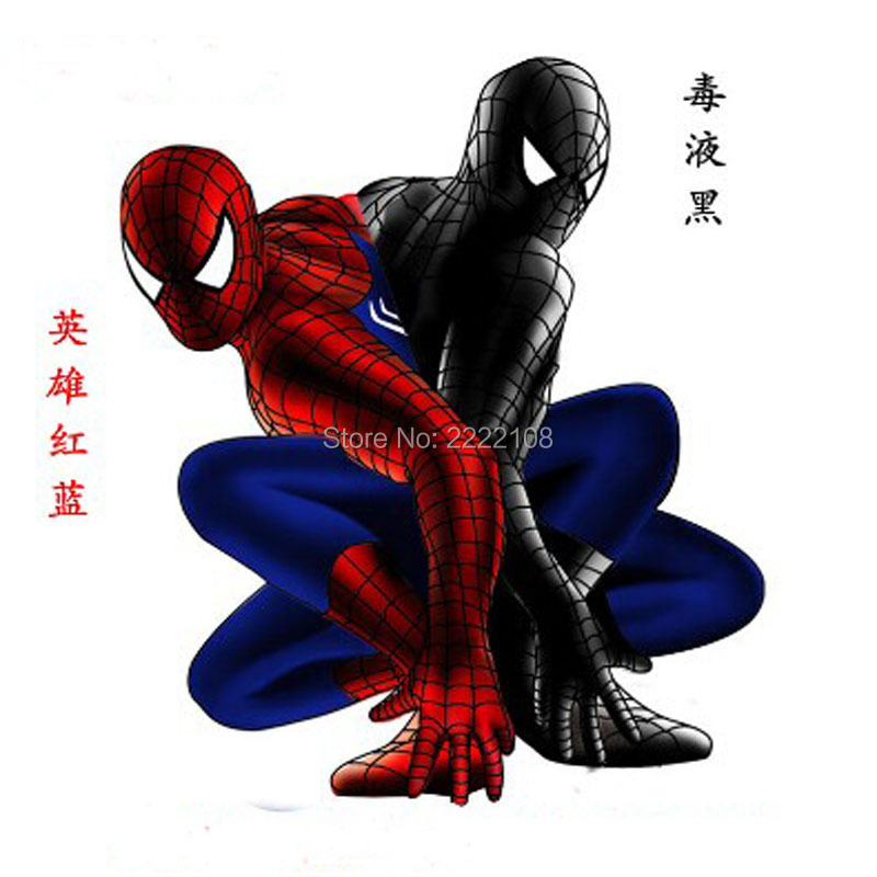 Spiderman SuperHero Cosplay Costume 100-190CM Black Red boy chidren adult Men halloween party birthday party gift Free shipping