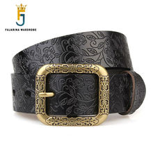 High-grade Ladies Fashionable Fashion 100% Cowhide Genuine Brand Strap Leather Belts for Women FBFAJA0146 jooz brand women 100