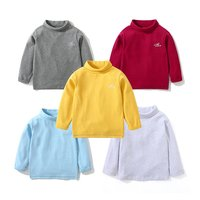 I.K Spring Autumn Baby Boys Girls Turtleneck Sweater Kids Winter Casual Cotton Bottoming Shirt Children Pullover 1 10 Years Tops