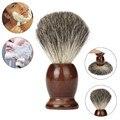 ZY New Men Wood Handle Shaving Brush Badger Hair For Men Father Barber Tool Beauty Girl DX28