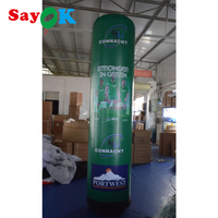 Inflatable LED Pillar Full Printing Column Oxford with PVC Coating Tube Glow in the Dark for Business Wedding Path Decorations