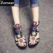 fashion Sweet flowers women peep toe shoes 2017 new arrival summer womens shoes flats leisure women flat sandals