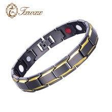 Trendy Black-Gold Silver Elastic Lettering Stainless Steel Bio Magnetic Male Women Men Health Energy Bracelet Bangles WristBand цена