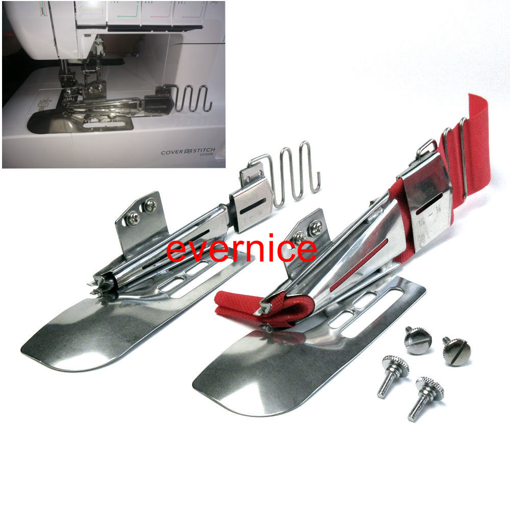 2 Sets Double-Fold B Type Binder 4 Way For Janome Coverpro Babylock Coverstitch