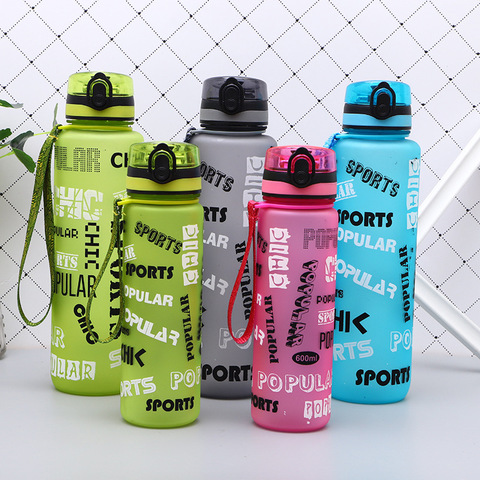 New Portable Plastic BPA Free Leak Proof My Sports Kids Water Bottle 600/1000Ml Tour Hiking Insulated Tea Cup Bottles For Summer Pakistan