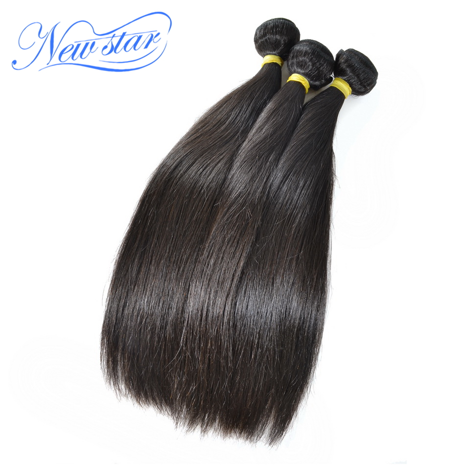 New Star Hair Malaysia Straight Virgin Human Hair Weave Extension 3 Bundles 10''-34''Inch Unprocessed Long Hair Weaving