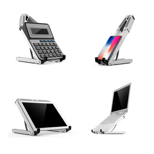 Image 5 - Liga de alumínio notebook suporte portátil ajustável computador suporte de alta qualidade almofada do telefone portátil calculadora livros estande cremalheiras