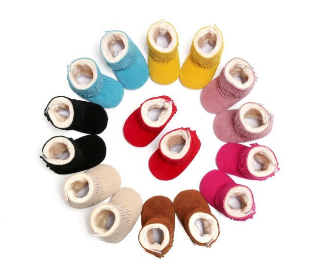 Baby Infant Boots Baby Shoes 2016 Tassel Boots A Toddler Boots Indoor Soft Bottom Shoes With Thick Cotton Boots	YEW333