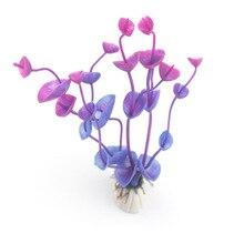 New Plastic Aquarium Decorations Multicolor Artificial Plants Fish Tank Grass Flower Ornament Decor Landscape JJ