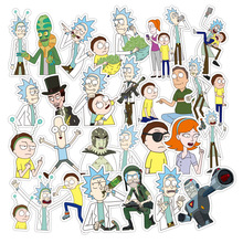 36 sheets Rick and Morty Skateboard Stickers Pack, Funny Laptop Luggage Snowboard Car Decals, Waterproof Vinyl and Sharp Colors 35pcs rick and morty vinyl stickers decal for window car laptop