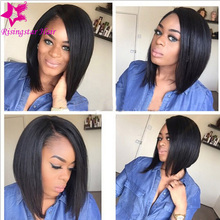 Best Selling Virgin Brazilian Full Lace Human Hair Wigs Bob Style Glueless Short Bob Human Hair Lace Front Wig For Black Women