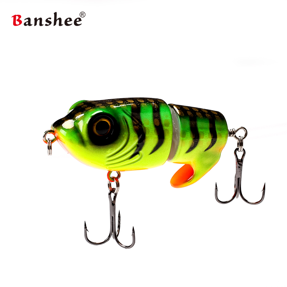 2018 new design Banshee 63mm 18g Top Water MTZ-LEO Fishing lure Bait Artificial topwater Tiger Frog bass two sections swimbait banshee 127mm 21g nexus voodoo atj01 swimbait two sction multi jointed topwater walk dog stickbait floating pencil