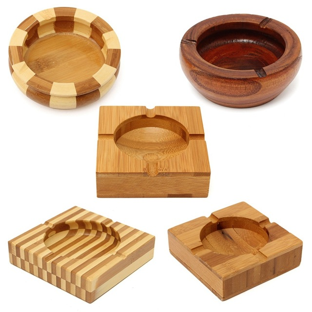 Portable 5 Types Wooden Ashtray Smokeless Cigar For Cigarette Cigaret  Bamboo Natural Ashtray Outdoor Home Craft - Portable 5 Types Wooden Ashtray Smokeless Cigar For Cigarette Cigaret  Bamboo Natural Ashtray Outdoor Home Craft Car Decoration-in Ashtrays From  Home &