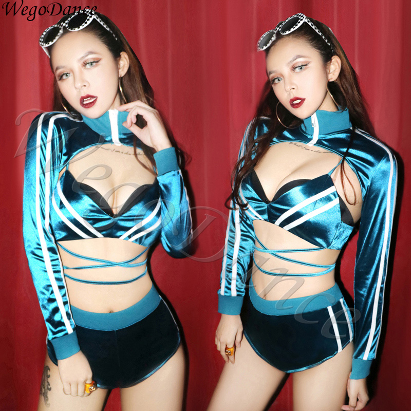 Hiphop Bar DS Performance Nightclub DJ Singer Gogo Lead Girls Costume Woman Freeshipping