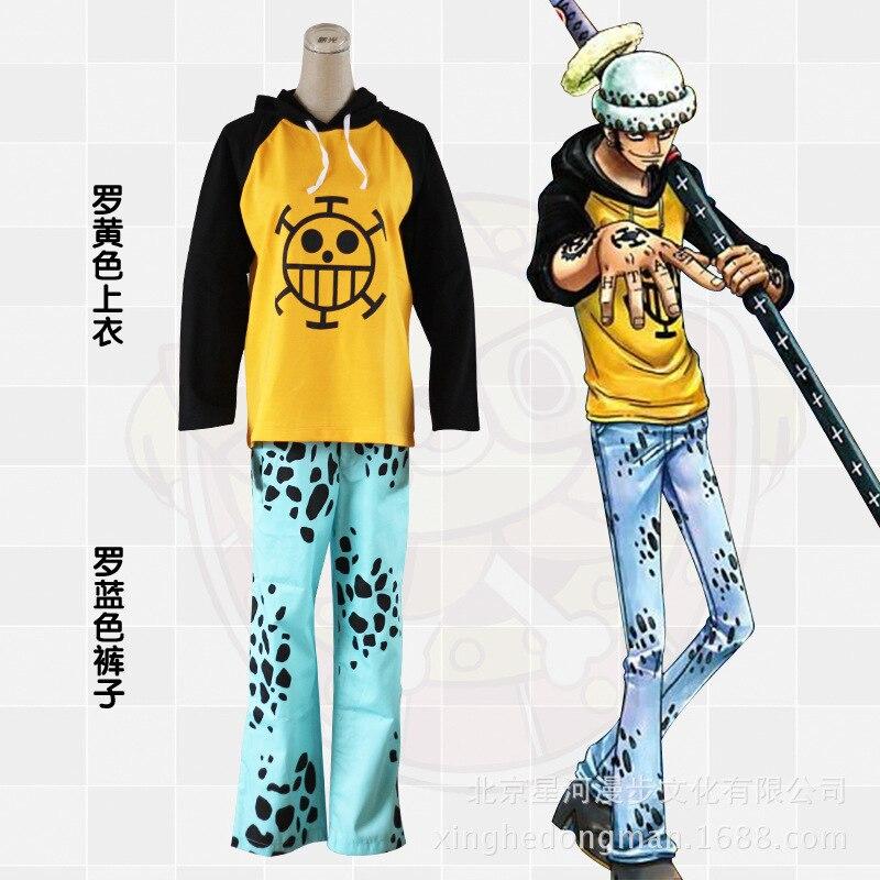 Anime One Piece Trafalgar Law Trousers Pants Cosplay Costume X001