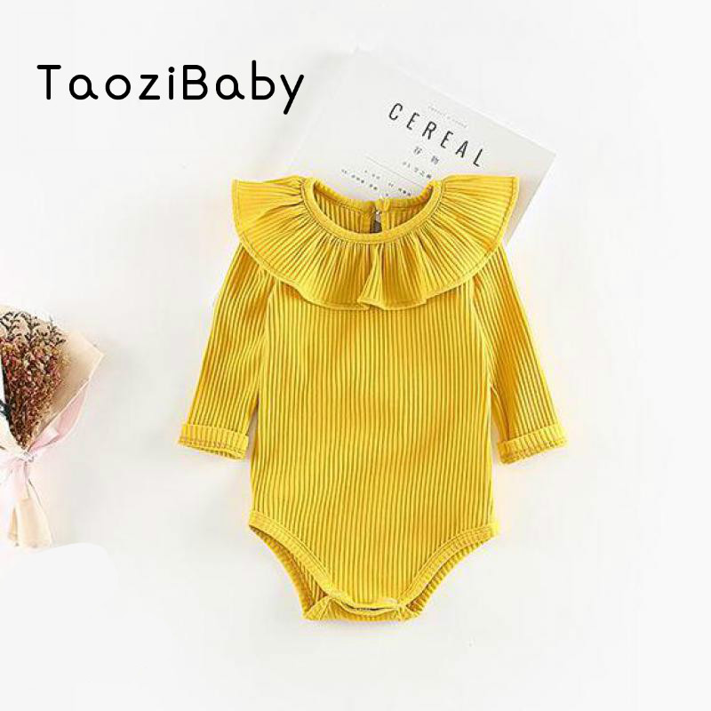 Newborn baby rompers Baby Girl Summer Clothes Bursting Threaded Lotus Leaf Collar Triang ...