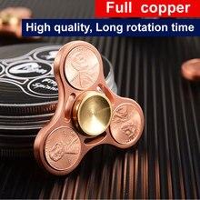 Fidget Spinner Toy Metal Copper EDC Sensory Fidget Spinner Hands Ceramic bearings Kids Adult Funny Anti