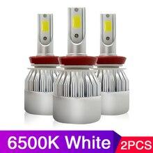 цена на 2 Pcs Car Headlight H4 LED H7 H1 H3 H11 H13 H27 HB3 HB4 9004 9005 9006 9007 72W 8000LM Auto Headlamp 6500K Light Bulb 12V 24V