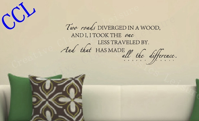 Free Shipping The Famous English Poem Wall Stickers Vinyl - Wall decals hallway