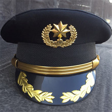 army officer Visor cap security guard hat army caps men military police hats for cosplay Halloween Christmas festival gifts