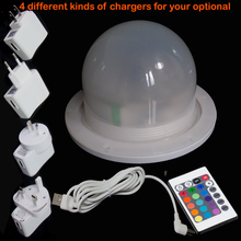 120mm direct charge led light source RGB 16 color changing for bar furniture set dropshipping