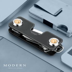 Image 2 - Modern Yepyeni Alüminyum akıllı anahtar Cüzdan DIY Anahtarlık Anahtar Tutucu Organizatör