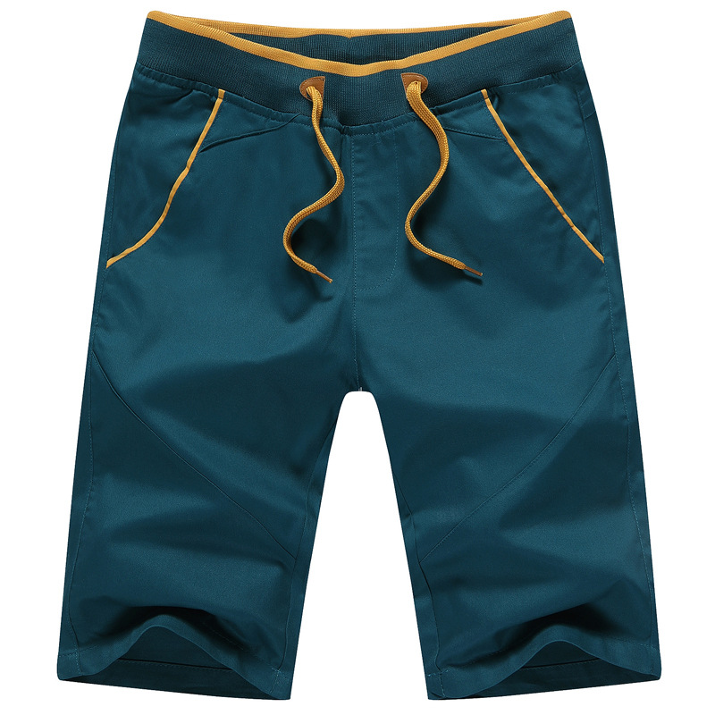 2019 Summer Solid Casual Shorts Men Cargo Shorts  Beach Shorts Plus Size S-5XL Drop Shipping Knee Length Bermuda Masculina