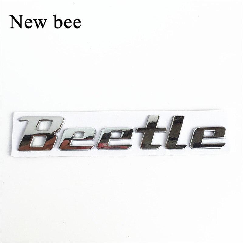 newbee car styling 3d metal sticker beetle emblem badge chrome letter logo decal for volkswagen. Black Bedroom Furniture Sets. Home Design Ideas