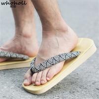 WHOHOLL Geta Male Sandals Japanese Style Sandals Clogs Cosplay Flip flops for Male Slides Platform EVA+PU Fake Geta No Wood