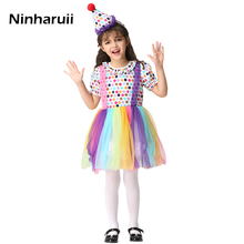 eaa3cf435d5e New Baby Girls Clown Costume Party Cosplay Dress Perform Dance   Stage Dress  Halloween Costume For