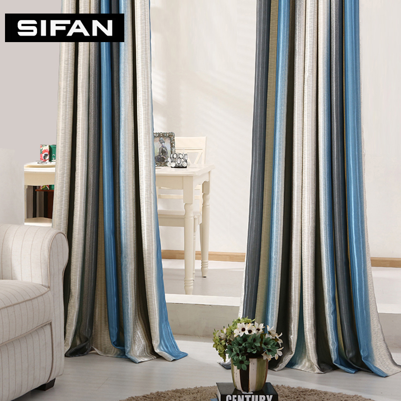 striped red blue modern curtains for living room elegant window curtains for the bedroom blinds. Black Bedroom Furniture Sets. Home Design Ideas