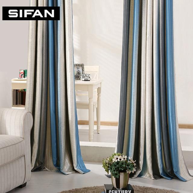 Strisce rosso blu tende moderne per soggiorno elegante - Tende eleganti per camera da letto ...