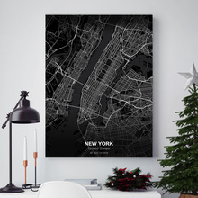New York London Tokyo Dubai Washington Los Angeles Map Wall Art Canvas Painting Nordic Posters And Prints Decoration Pictures olev remsu toronto new york los angeles