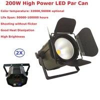 2Pcs/Lot COB Led Par Light 200W High Power Par Led Can Beam Wash DJ Disco DMX512 Stage Lighting Effect Home Party Equipments