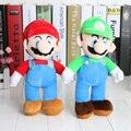 Nuevo Soporte de Alta Calidad de 25 cm Super Mario Bros MARIO LUIGI Felpa Juguetes de Peluche Muñeca de Juguete