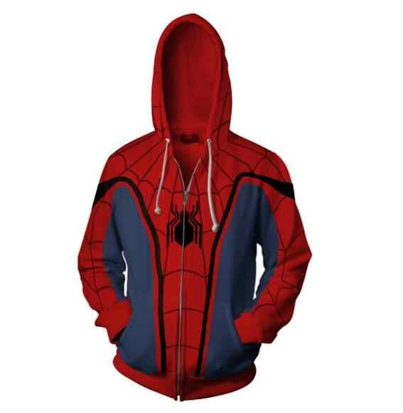 20a67ad24 ... Spider-Man Man Zip Up Hoodie Sweatshirts Long Sleeve Zipper Men Masked  Spiderman SpiderHoodie Cosplay ...