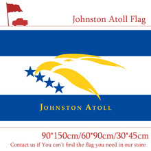 Free shipping 3x5ft U.S. Johnston Atoll Flag The United States America 90*150cm 60*90cm 30*45cm Car For Decoration