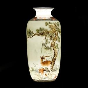 Image 2 - Jingdeedt vaso de cerâmica estilo chinês, artigos para decoração de casa, vaso fino de superfície suave