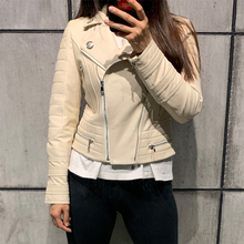 ladies leather jacket women real leather jacket