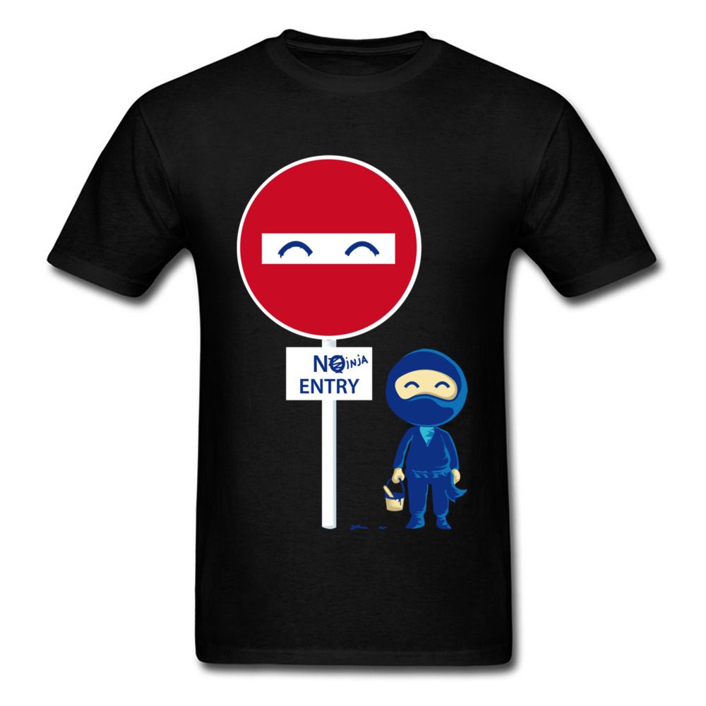 100% Baumwolle Herren T-shirt Wie Ein Ninja T-shirt Design Tops T Shirt Grafik Lustige Rundhals 95 S Anime T-shirt Großhandel Up-To-Date-Styling