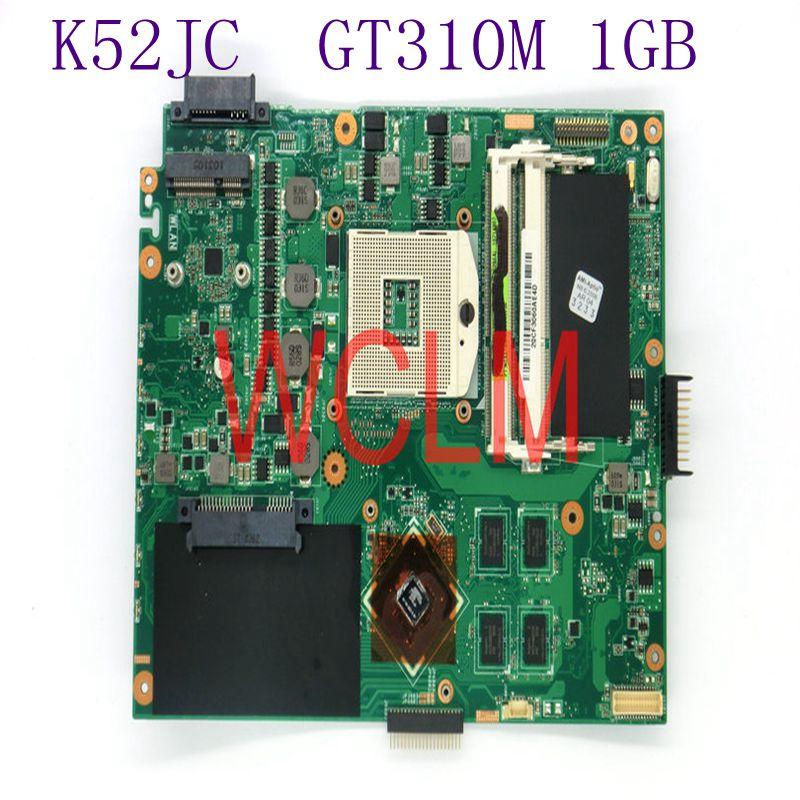 K52JC GT310M 1GB N11M-GE2-S-B1 mainboard For ASUS A52J X52J K52J A52JC laptop motherboard REV 2.0 DDR3 100% Tested Working Well k52jr rev 2 0 2 2 hd5470 1gb motherboard for asus k52je a52j x52j k52ju k52jt k52jc k52j laptop original notebook motherboard